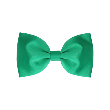 Plain Solid Emerald Green Satin (Child's Bow Tie)