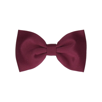 Burgundy Red Wine Plain Solid Satin (Child's Bow Tie)