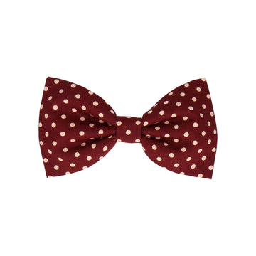 Burgundy Red Polka Dots Burgundy (Child's Bow Tie)