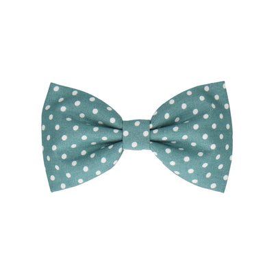 Sea Green Polka Dots (Child's Bow Tie)