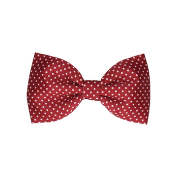 Burgundy Red Pin Dots (Child's Bow Tie)