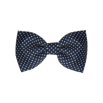 Navy Blue Pin Dots (Child's Bow Tie)
