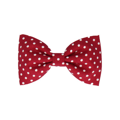 Cranberry Red Polka Dots (Child's Bow Tie)