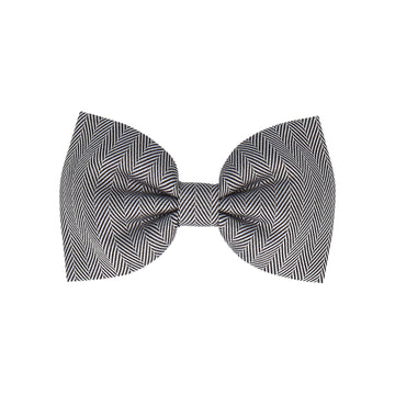 Cotton Monochrome Herringbone (Child's Bow Tie)