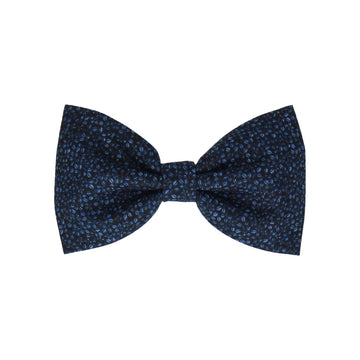 Navy Blue Tiny Petal Cotton (Child's Bow Tie)