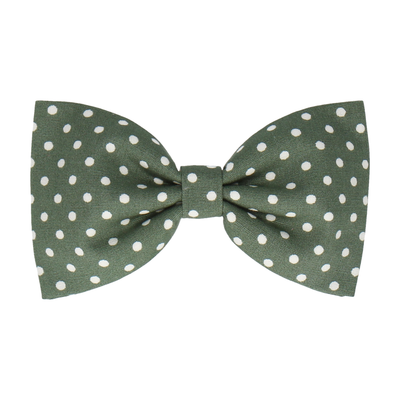 Fennel Green Polka Dots (Child's Bow Tie)