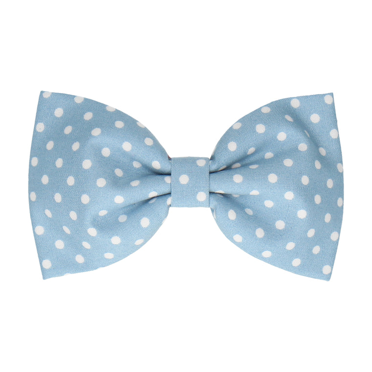 Dusty Blue Polka Dots (Child's Bow Tie)
