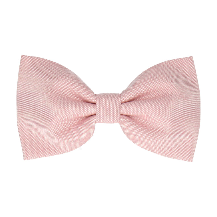 Cotton Pink Chambray (Child's Bow Tie)