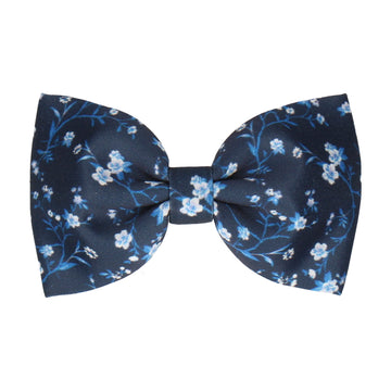 Navy Blue Blossom Floral (Child's Bow Tie)