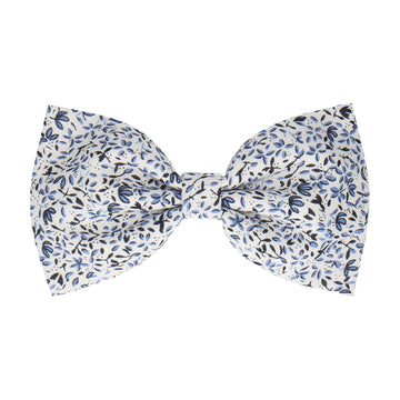 Little Blue Flowers White (Child's Bow Tie)