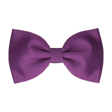 Plain Solid Plum Purple (Child's Bow Tie)