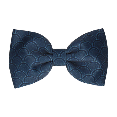 Navy Blue Wedding Fans (Child's Bow Tie)
