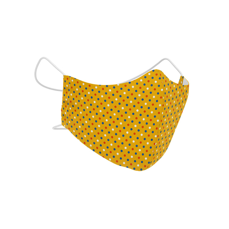 Carnival Yellow SilverPlus Antimicrobial Children's Face Mask