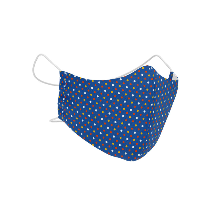 Carnival Blue SilverPlus Antimicrobial Children's Face Mask