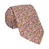 Orange Ditsy Floral Pepper Liberty Cotton Tie