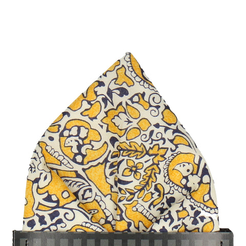 Lagos Laurel in Yellow Pocket Square