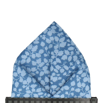 Blue Floral Glenjade Liberty Cotton Pocket Square