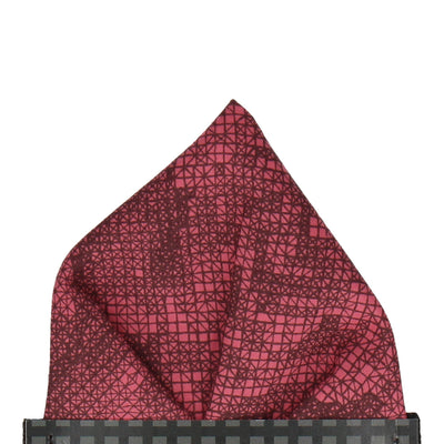 Red Anderson Liberty Cotton Pocket Square
