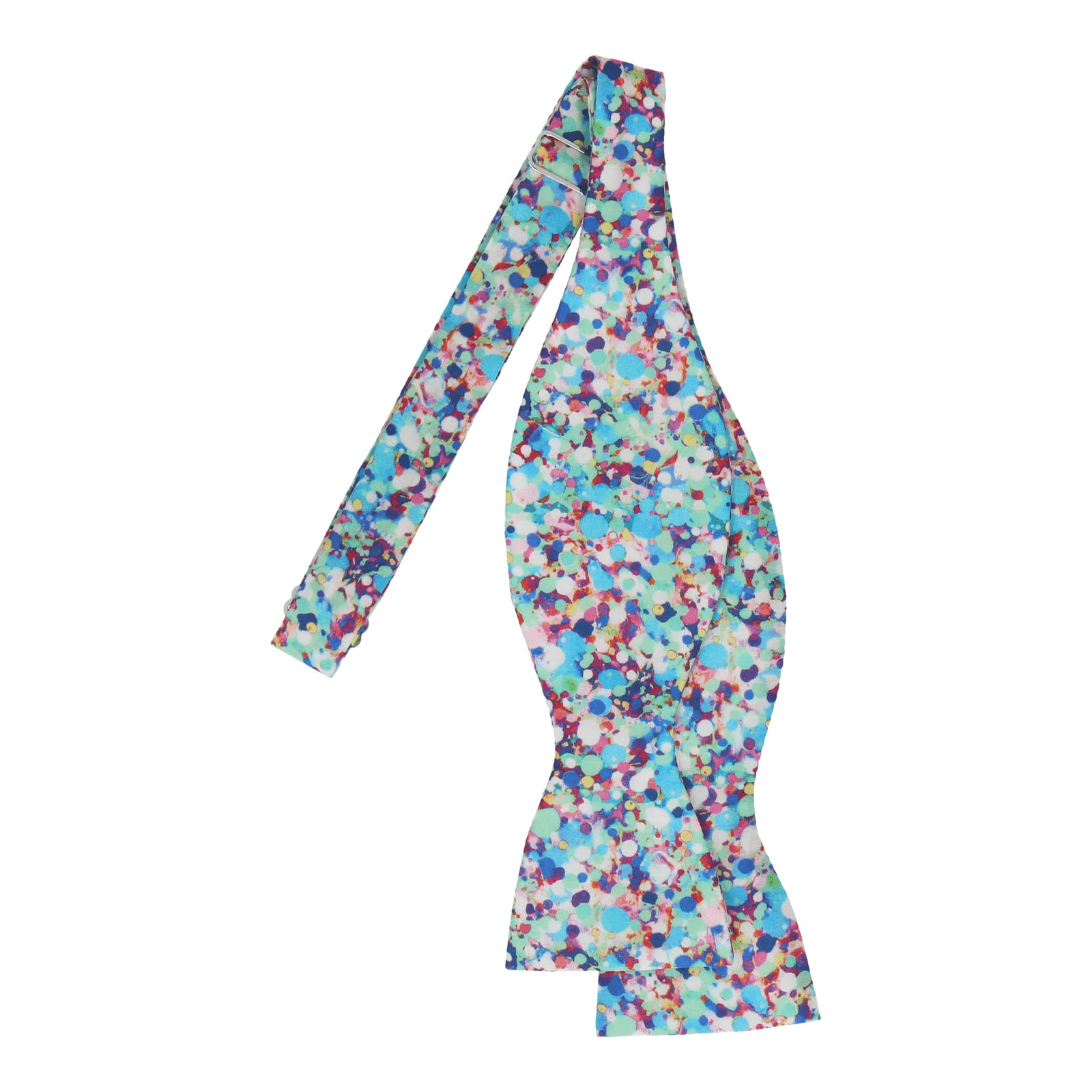 Aqua Dots Reflections Liberty Cotton Bow Tie