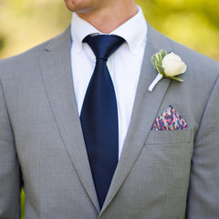 Meadow Rain in Pink Pocket Square