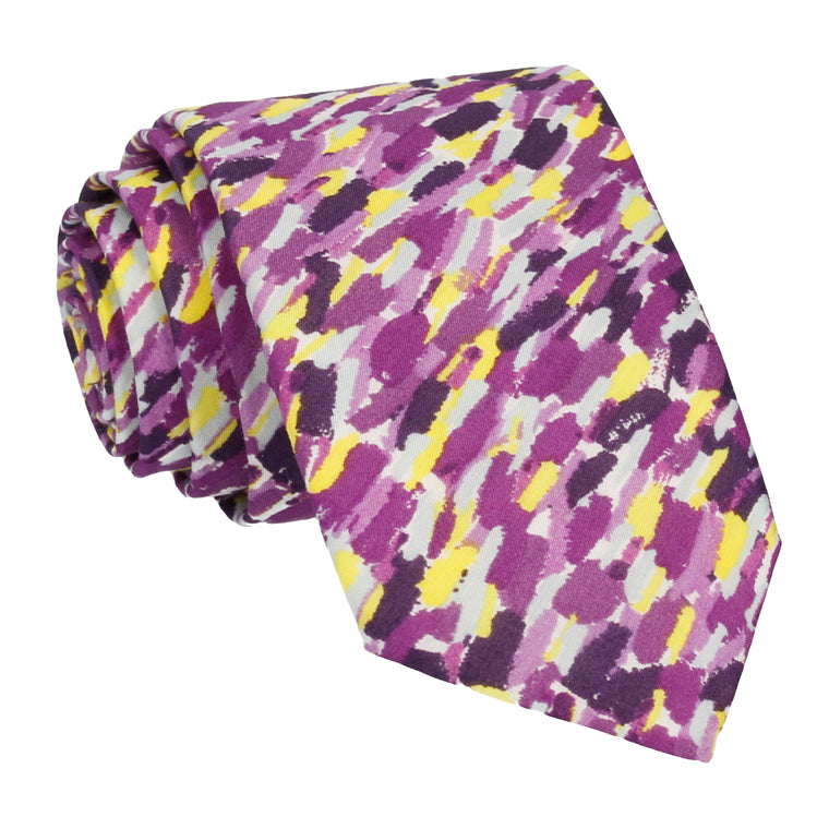 Purple Meadow Rain Liberty Cotton Tie