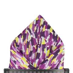 Meadow Rain in Purple Pocket Square