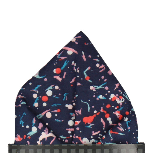 Liberty Dot in Navy Blue Pocket Square