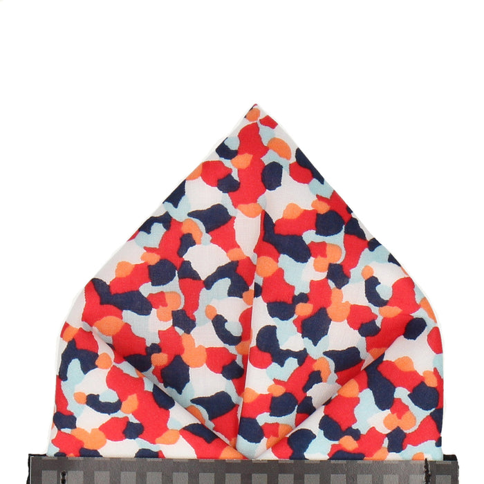 Confetti in Red Pocket Square
