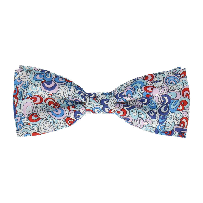 Rainbow Rave in Blue Bow Tie -Batwing-Pre-Tie- - bowties by Mrs Bow Tie