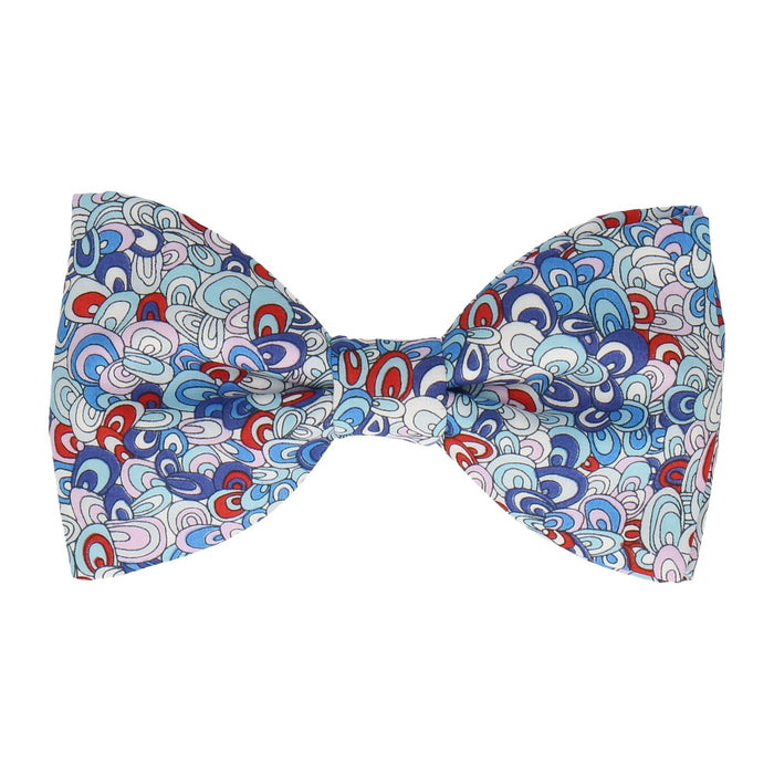 Rainbow Rave in Blue Bow Tie -Large-Pre-Tie- - bowties by Mrs Bow Tie