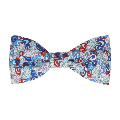 Rainbow Rave in Blue Bow Tie Bow Tie -Standard-Pre-Tie- - bowties by Mrs Bow Tie