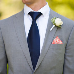 Glenjade in Hot Coral Pocket Square