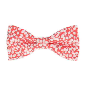 Peach Coral Floral Glenjade Liberty Cotton Bow Tie