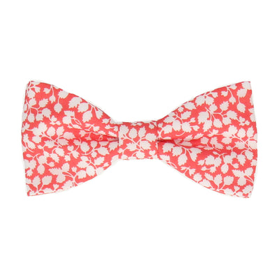 Glenjade in Hot Coral Bow Tie