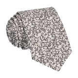 Grey Ditsy Floral Pepper Liberty Cotton Tie