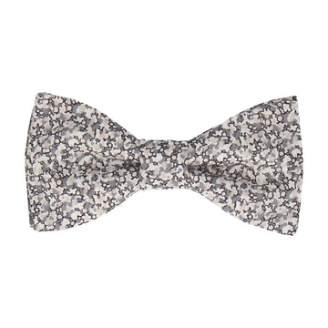 Grey Ditsy Floral Pepper Liberty Cotton Bow Tie