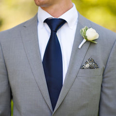 Franklyn in Navy Blue Pocket Square