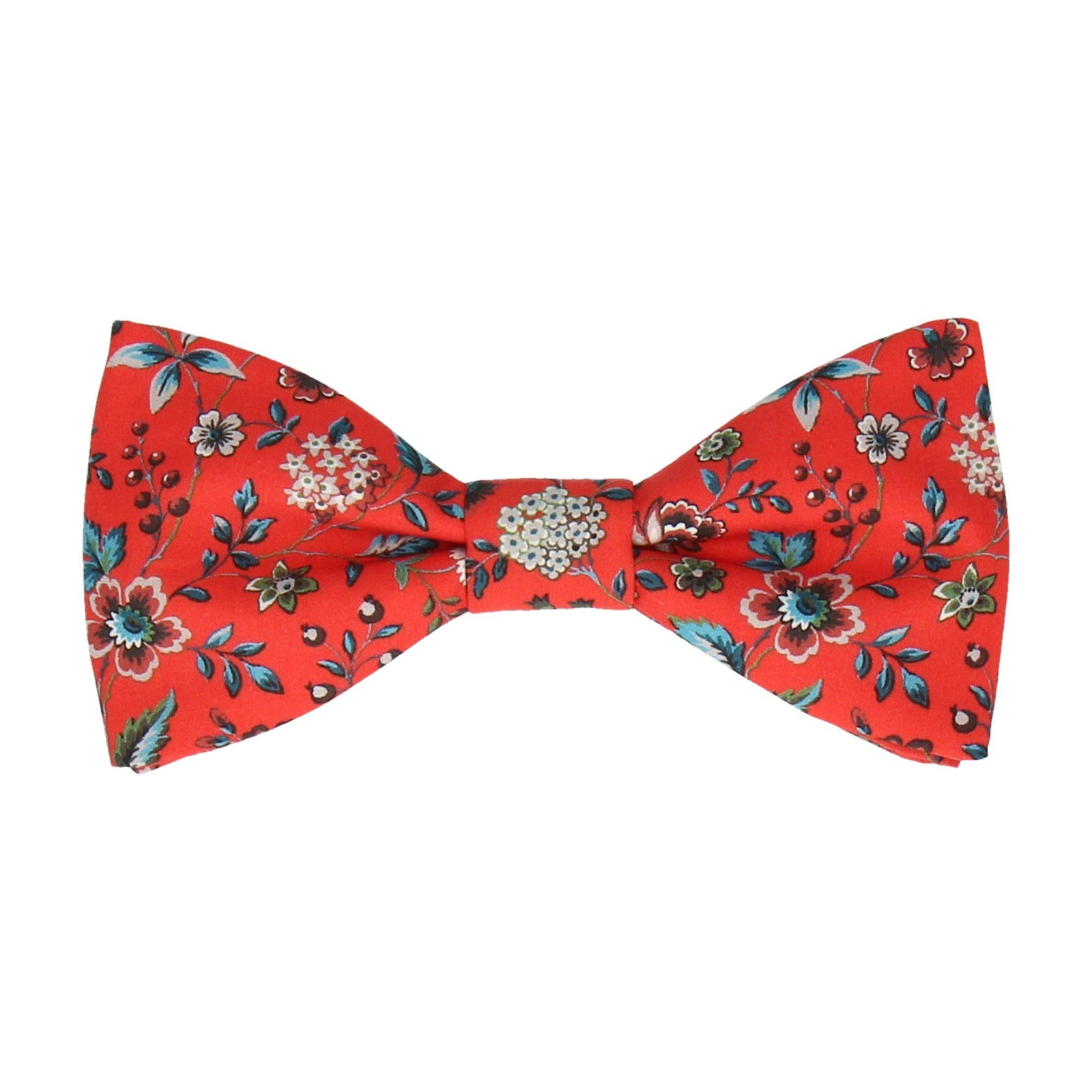 Blood Orange Floral Rousseau Liberty Bow Tie