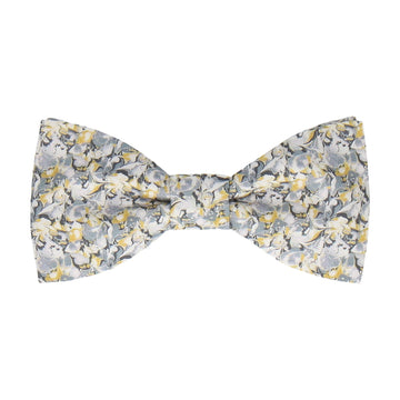 Grey & Saffron Alba Liberty Cotton Bow Tie