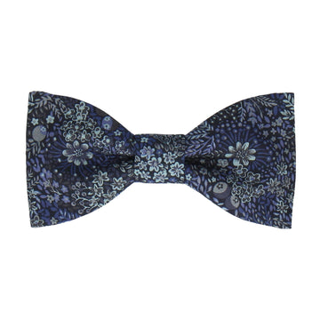 Floral Elderbury Navy Blue Liberty Bow Tie