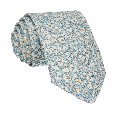 Feather Fields in Blue Tie