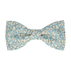 Feather Fields Blue Bow Tie
