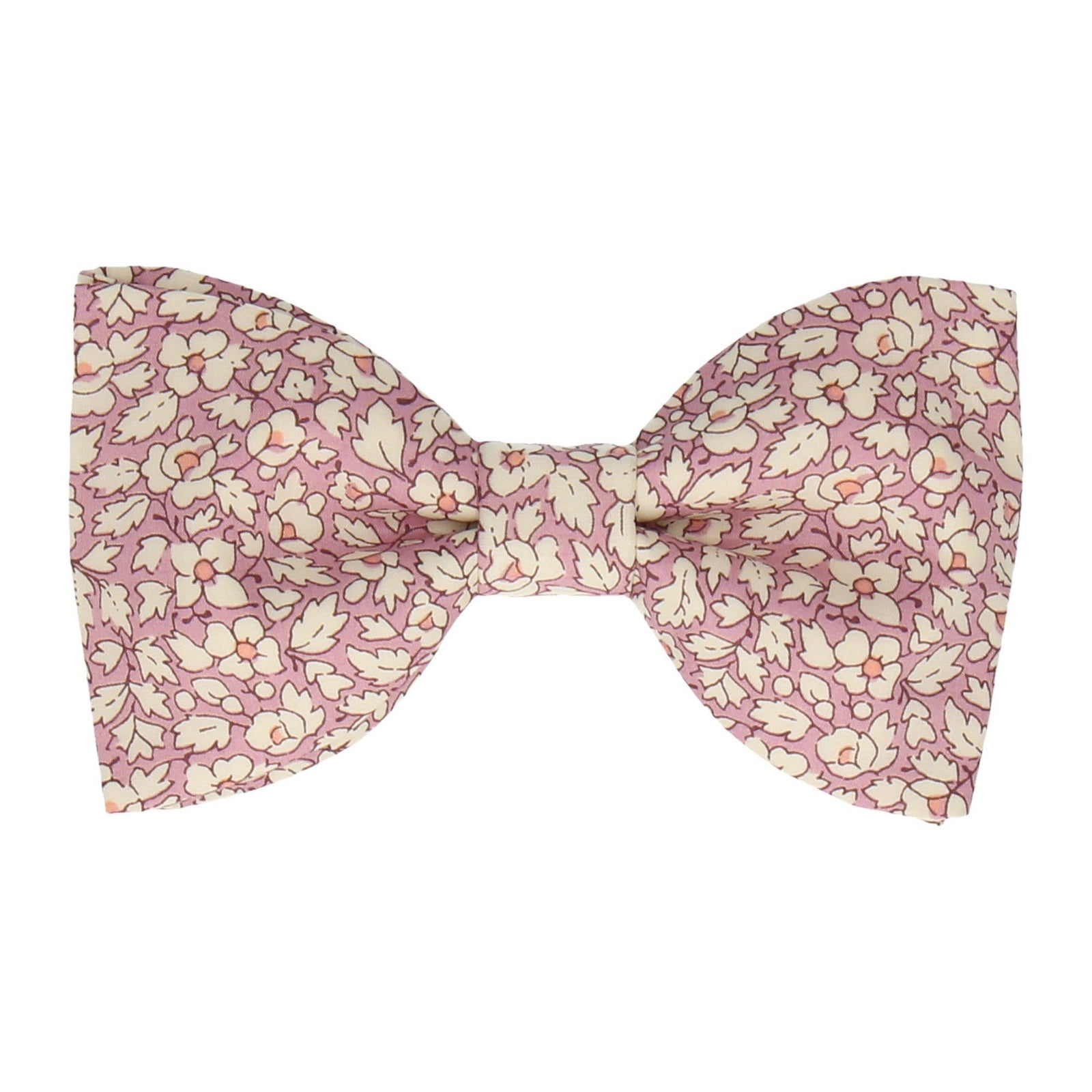 Pink Floral Feather Fields Liberty Cotton Bow Tie