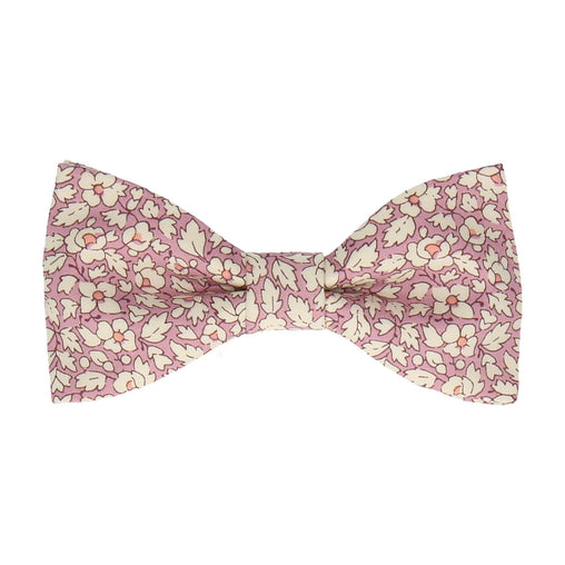 Feather Fields Pink Bow Tie