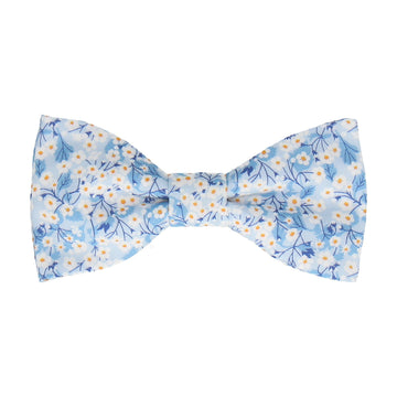 Light Blue Small Flower Mitsi Valeria Liberty Bow Tie