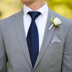 Mortimer in Blue Pocket Square