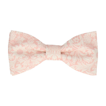 Pale Pink Floral Mortimer Liberty Cotton Bow Tie