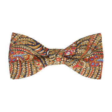 Red & Gold Paisley Liberty Cotton Bow Tie