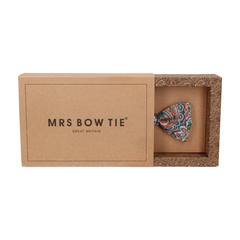 Tessa Teal & Orange Paisley Bow Tie