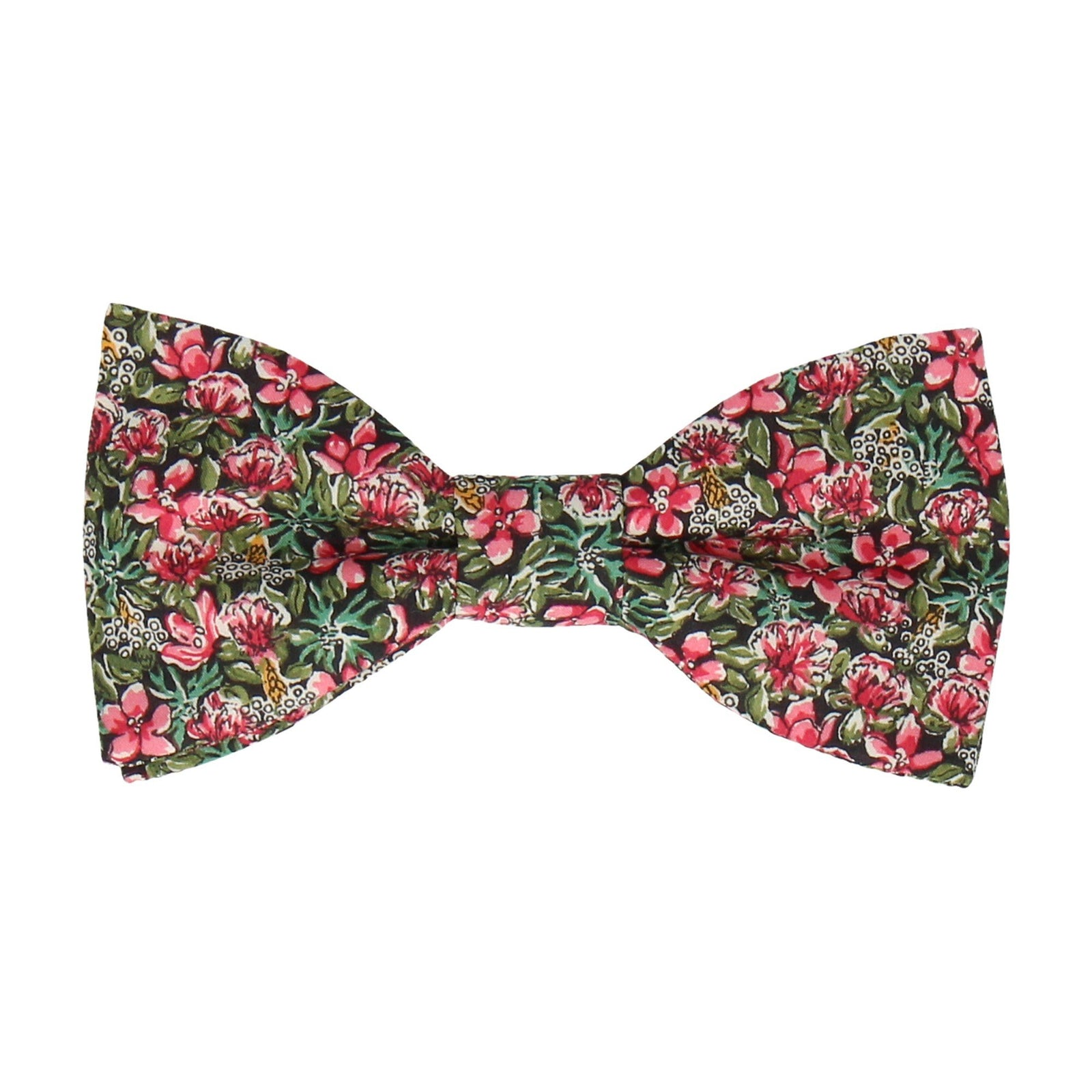 Jungle Floral Pink Ragged Robin Liberty Bow Tie